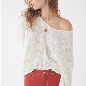 Urban Outfitters Coconut Reversible V Neck Sweater